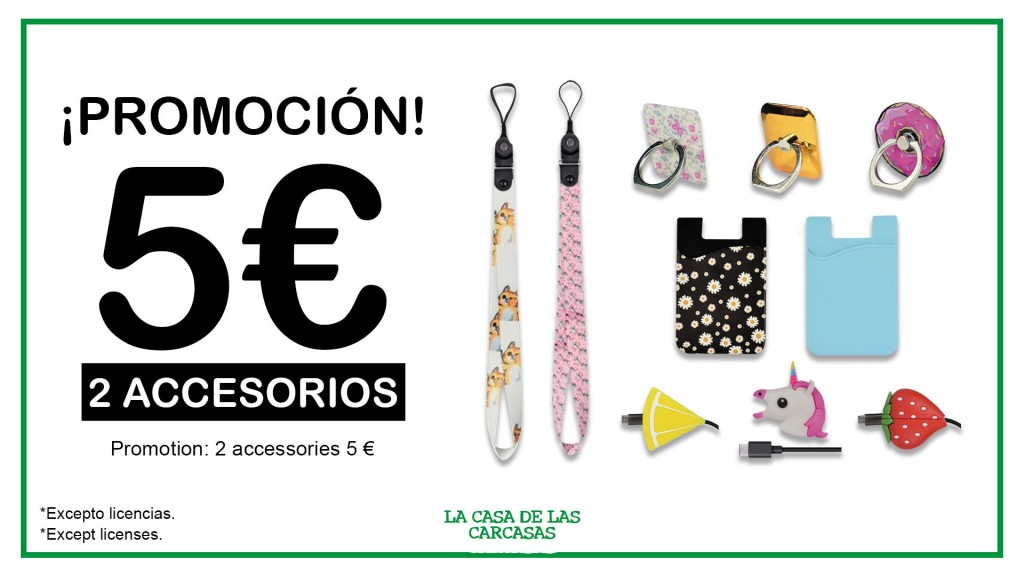 la casa de la carcasa promoción dos accesorios por 5 euros